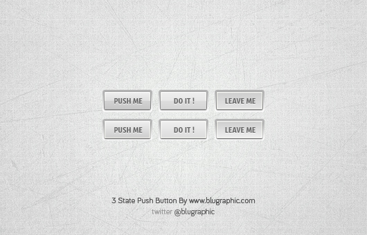3 State Push Button Free PSD
