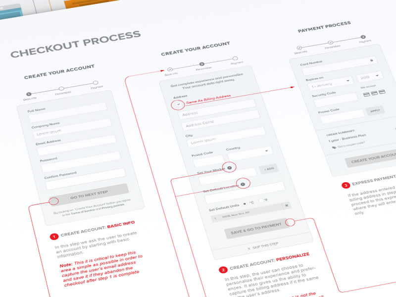 Simplified Checkout Process by Michael Pons