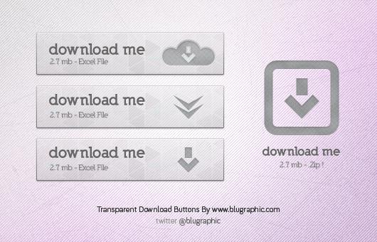 Transparent Download Button Free PSD