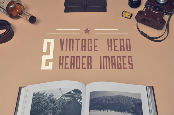 2 Vintage Hero Header Images