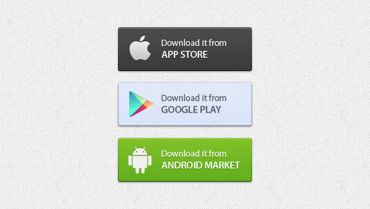 App Download Buttons Free PSD