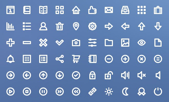 75 freebie line iconset download