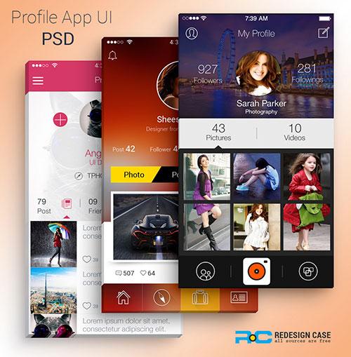 25-profile-app-ui-psd