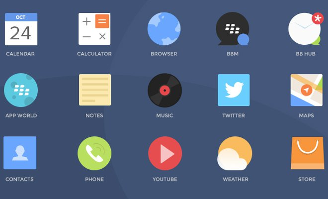 free psd blackberry iconset freebie