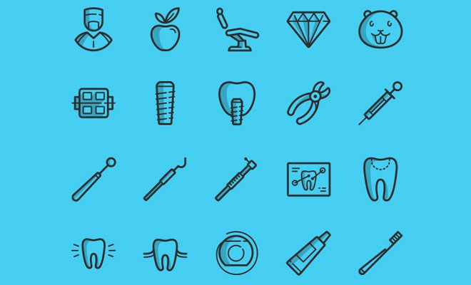 dental icons freebie iconset