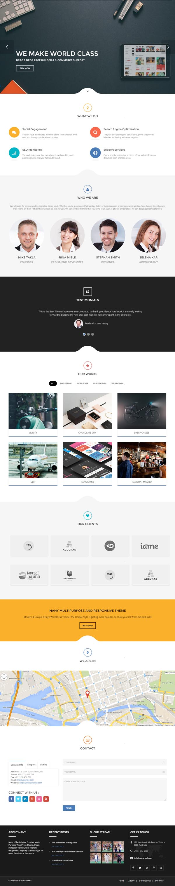 Nany – Creative Multipurpose WordPress Theme
