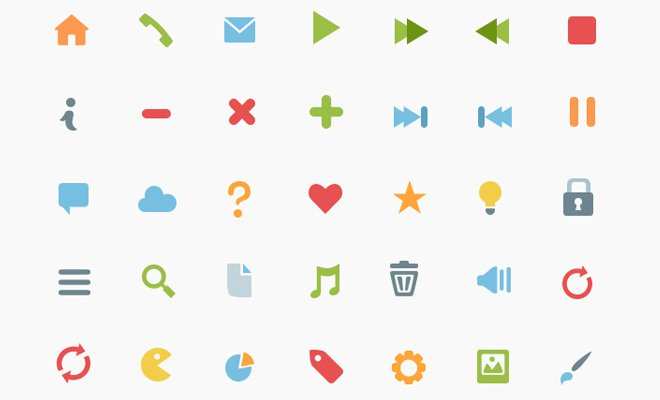 basic general flat iconset freebie colorful