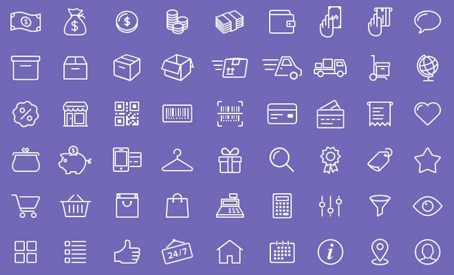 freebie ecommerce iconset 54 pack