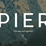 Free Font Of The Day : Pier