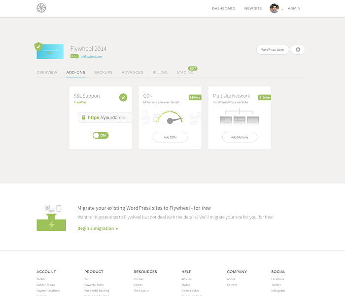 Flywheel: WordPress Hosting Made for Designers and Creative Agencies