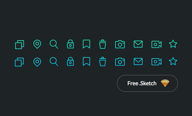 pure green simple line icons sketch