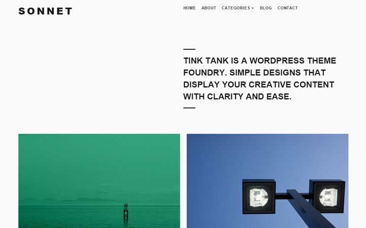 sonnet responsive wordpress theme design