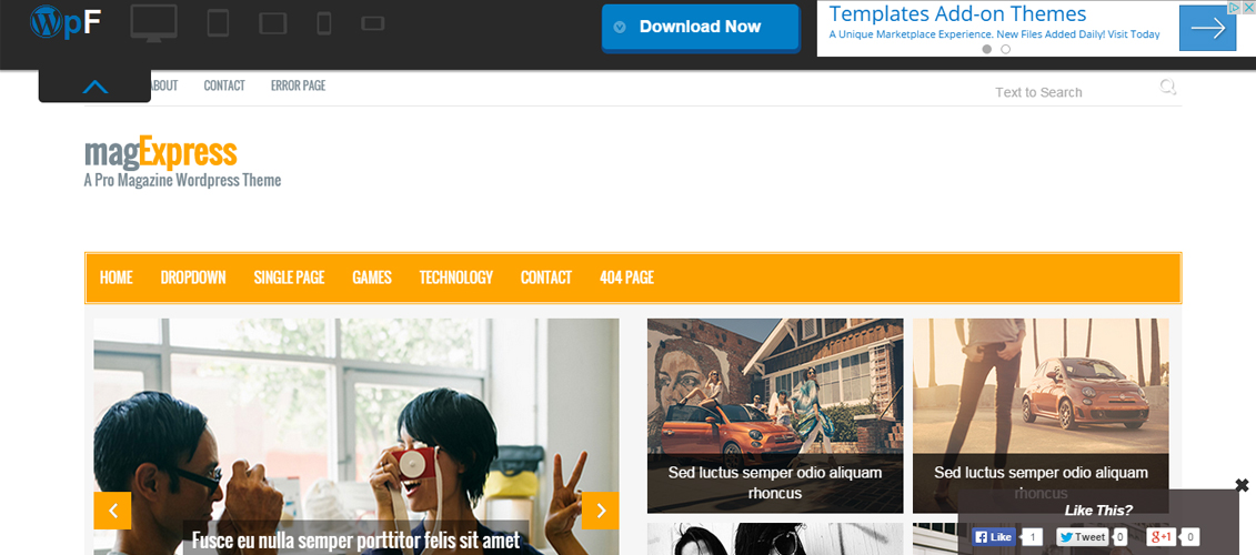 magExpress - Html5 Bootstrap Magazine Template