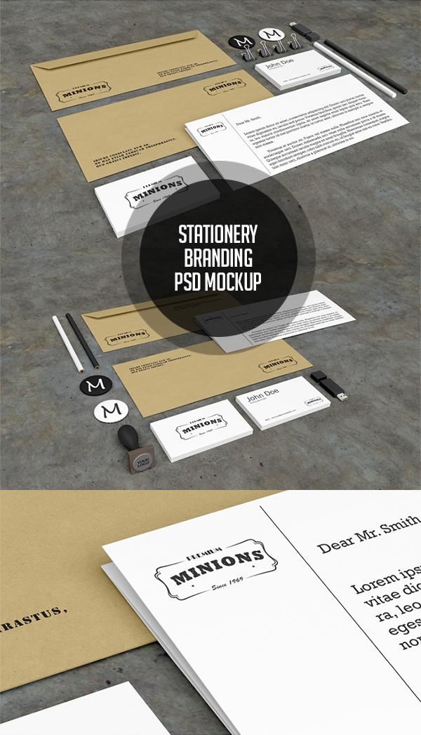 Free Stationery PSD Mockups