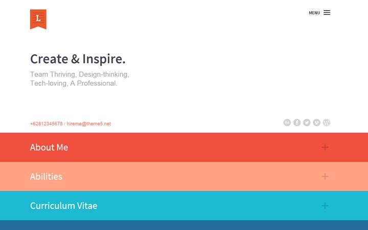 lagit website minimalist cv portfolio
