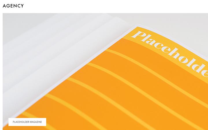 agency fullscreen minimal portfolio