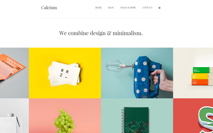 calcium minimal portfolio theme wordpress