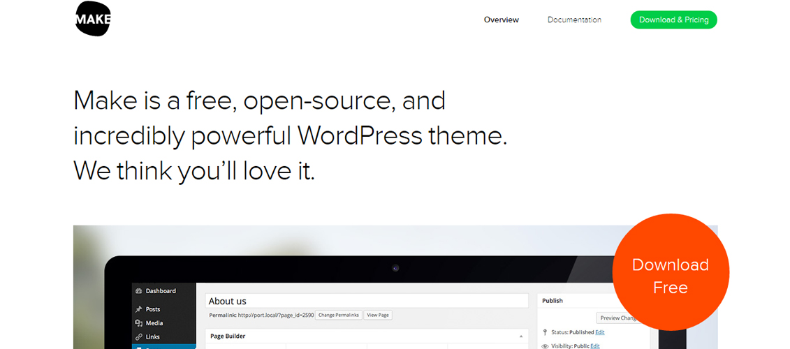 Make - A free WordPress Theme