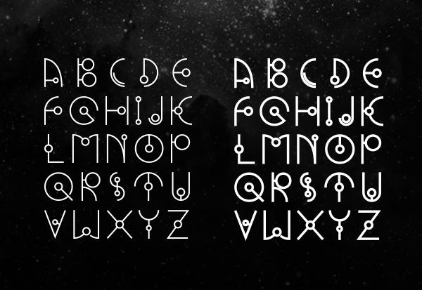 UFO NEST font letters