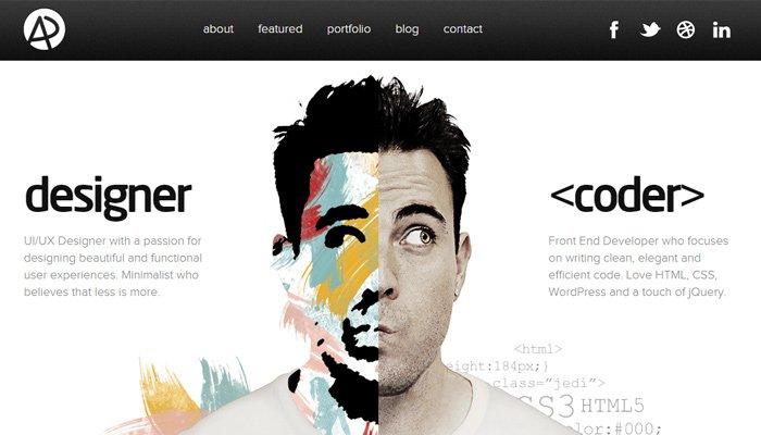 adham dannaway website portfolio homepage