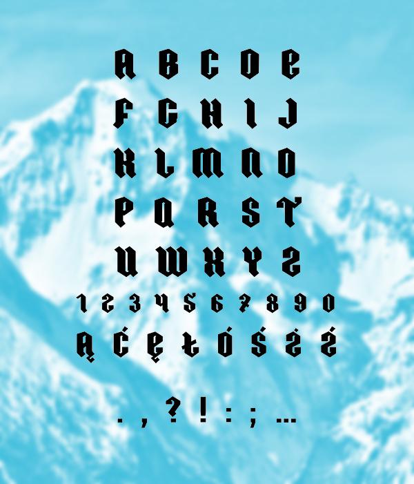 Ordnung font letters
