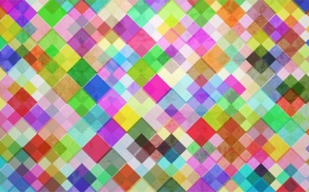 Colorful mosaic tiles vector pack