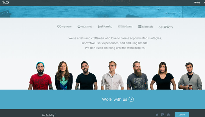 underbelly design agency website inspiration