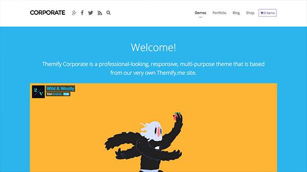 Corporate - Business & Portfolio WordPress Theme