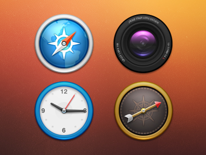 realistic icon redesign circle iconset