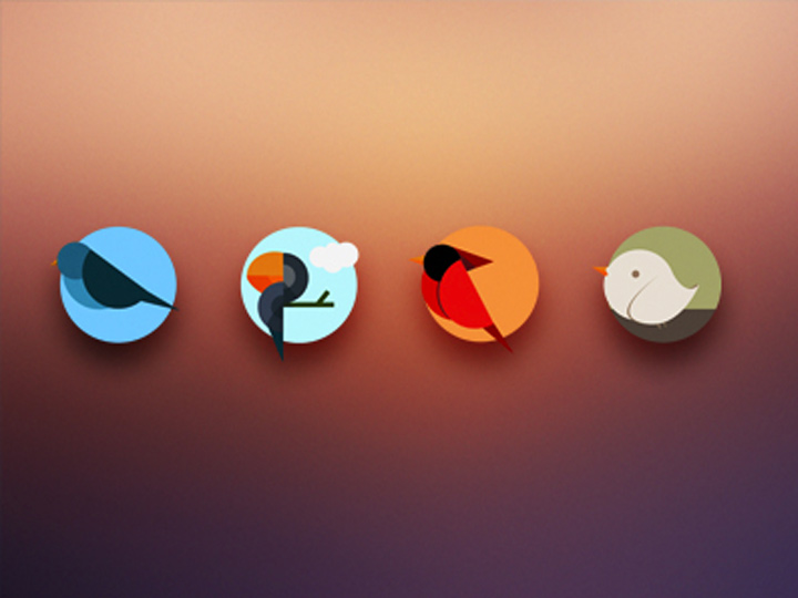 iconset icons circle birds colorful