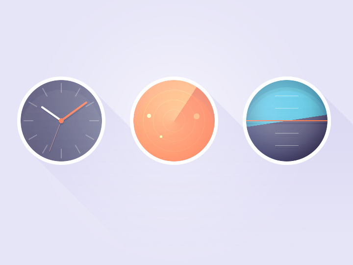 radar watch sync tools icon circular
