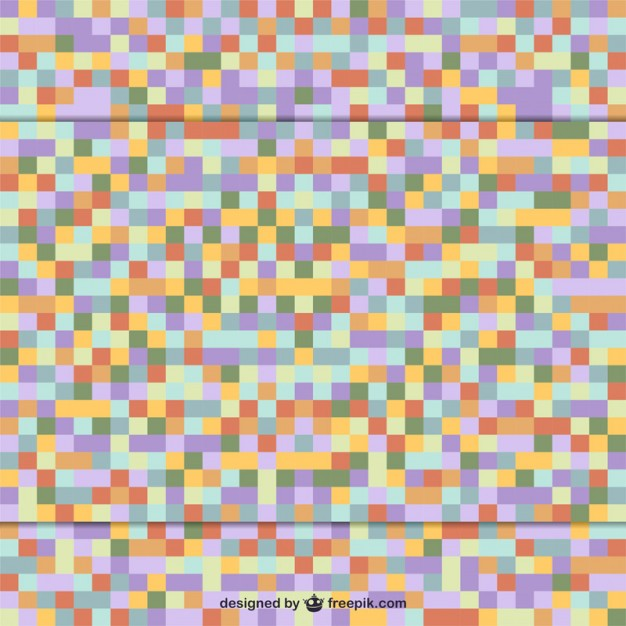 Square retro mosaic background