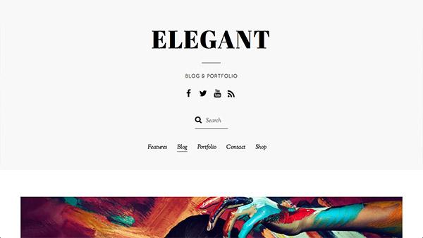 Elegant - Minimal Blog & Portfolio