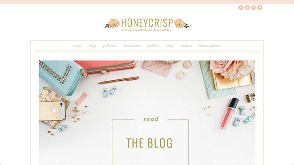 Honeycrisp - A Pretty WordPress Theme
