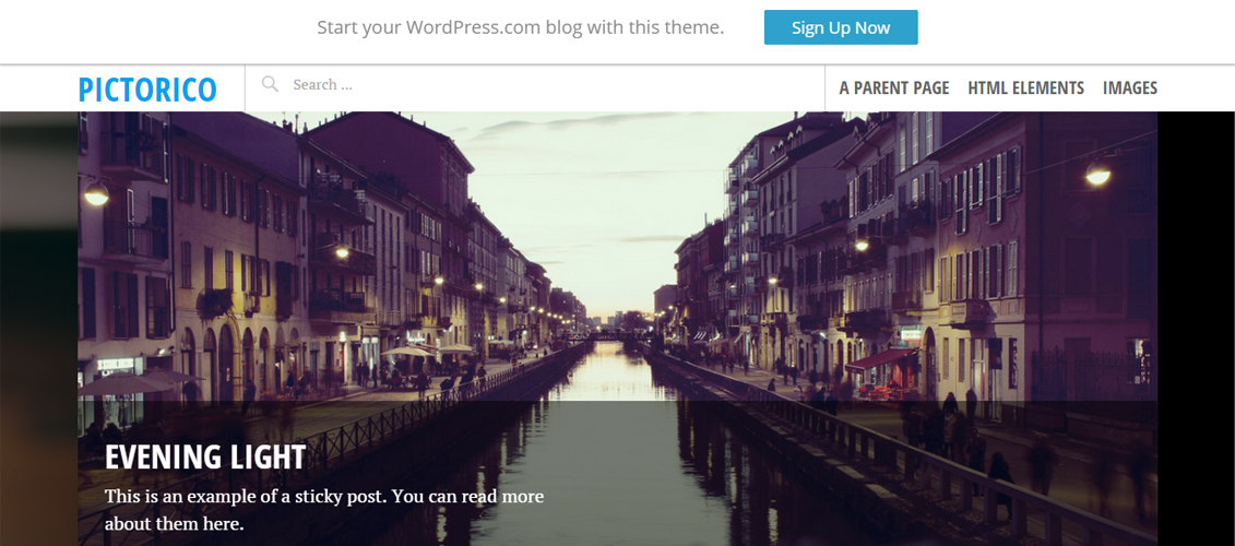 Pictorico - Free Photography WordPress Theme