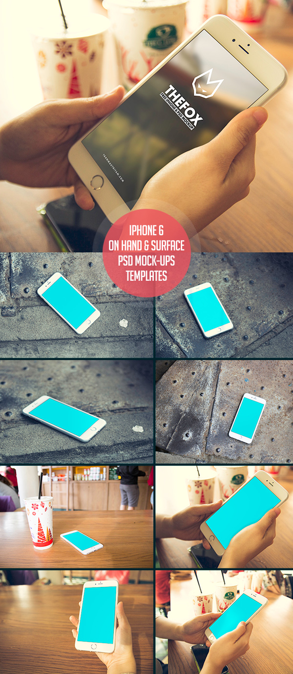 Free iPhone 6 PSD Mock-Ups Template