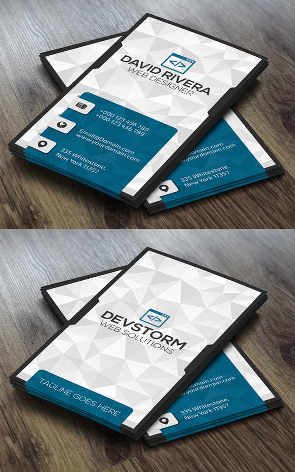 25 Creative Business Cards Design (Print Ready) - iDevie