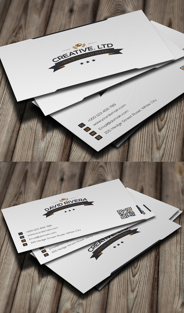 White Classic Business Card