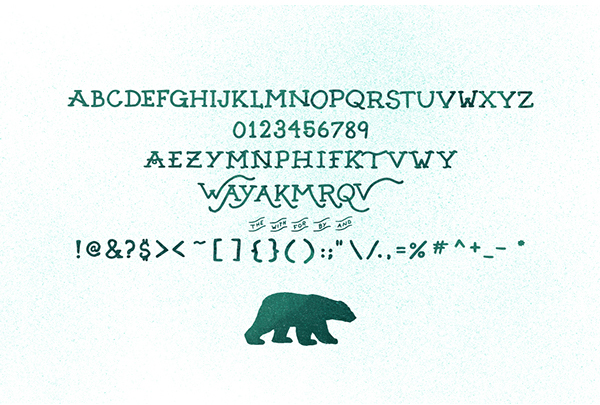 SeanCoady ArcticExpress font letters
