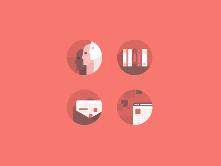 simple red shapes rounded iconset