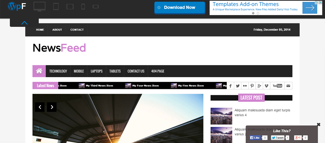 NewsFeed - WordPress Magazine Theme