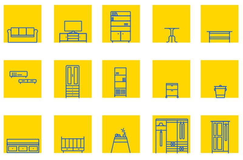 Ikea furniture icons set by John Lee