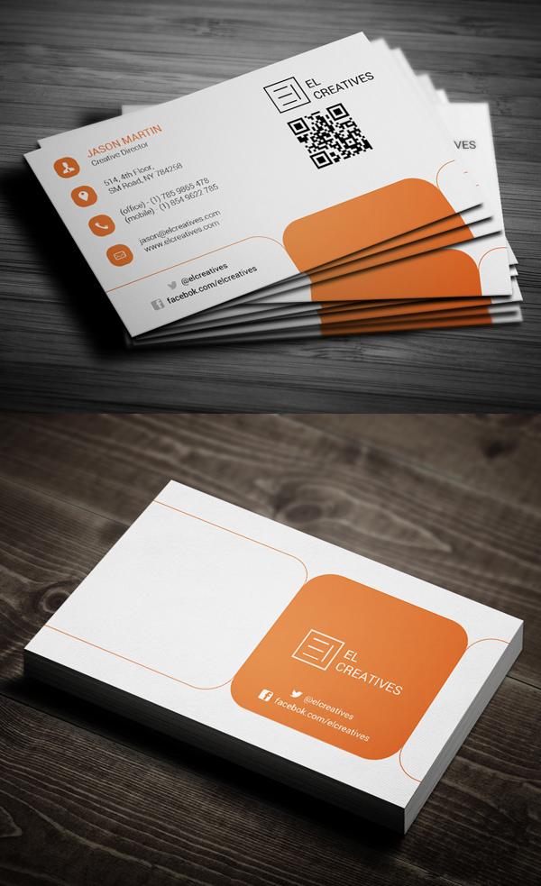 Orange Creative Business Card