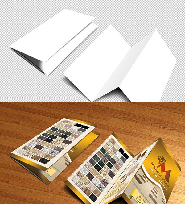 Free Brochure PSD Mockup