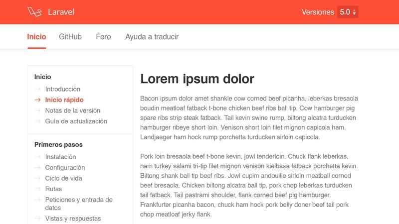 Website Documentation PSD Template