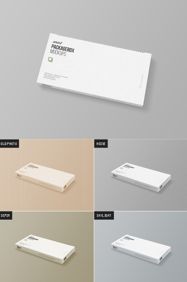 Free Package Box Mockup Template