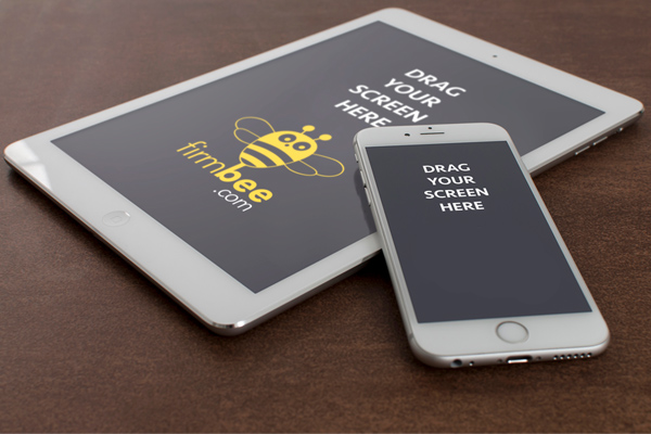 Free iPad and iPhone 6 Perspective Mockups