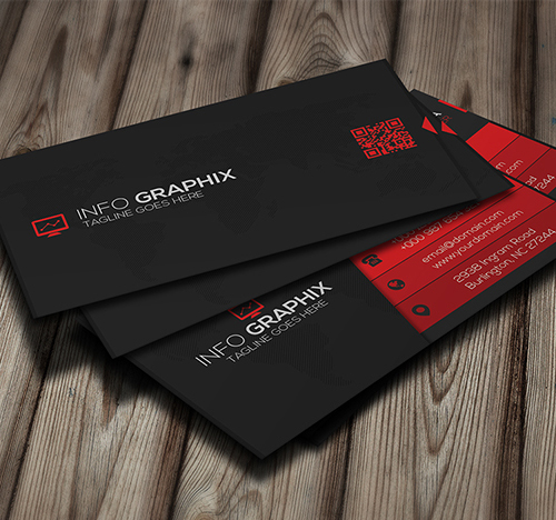 25 creative business cards design print ready idevie red corporate business card reheart Image collections