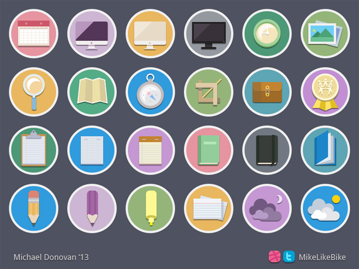 photoshop glossy iconset colorful glyphs