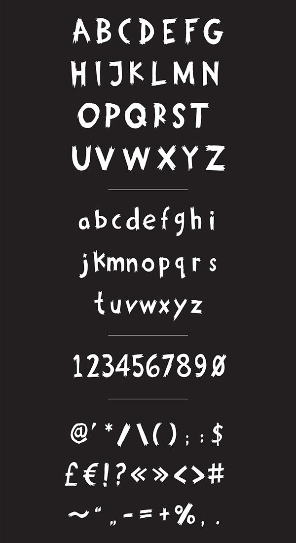 Growl font letters